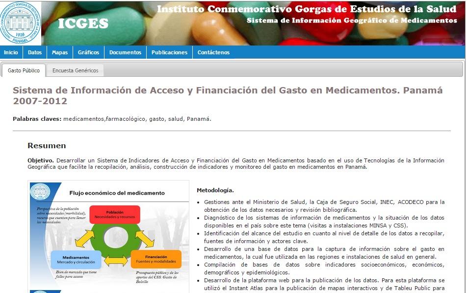 Sistema de Información de Acceso y Financiación del Gasto en Medicamentos. Panamá 2007-2012