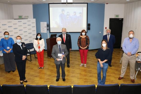 La  Fundación Belisario Porras, dona al Instituto Conmemorativo Gorgas de Estudios de la Salud (ICGES), un equipo  y mascarillas para la lucha contra el Covid- 19