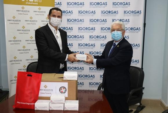 INSTITUTO GORGAS, RECIBE DONACIÓN DE COBRE PANAMÁ